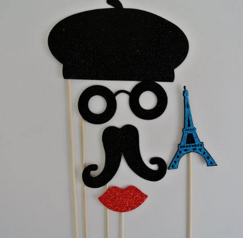 Parisian Inspired Photo Booth Party Props]()