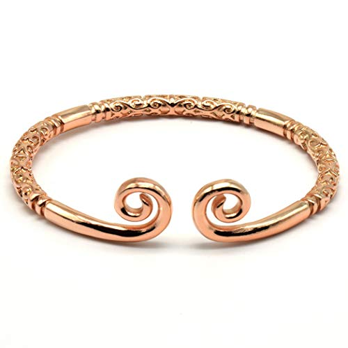 Rhythm Daily Mens Womens Stainless Steel Sun Wukong Monkey King Golden Hoop Rod Ring Bangle Narrow Open Cuff Bracelet (Color Gold)
