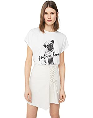 Mango Women's Printed Cotton-Blend T-Shirt