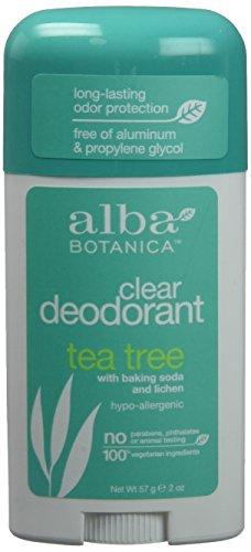 Alba Unscented Deodorant - ALBA BOTANICA STICK DEOD,TEA TREE, 2 OZ, 3 pack