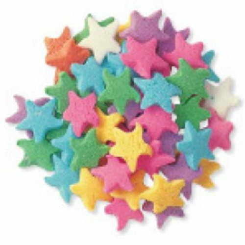 (Dress My Cupcake DMC27293 Decorating Edible Cake and Cookie Confetti Sprinkles, Pastel Stars, 2.4-Ounce )
