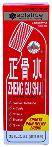 SOLSTICE MEDICINE COMPANY - Zheng Gu Shui External Analgesic Lotion With Applicator, 3.4 Oz (Best Pain Relief For Bruised Ribs)
