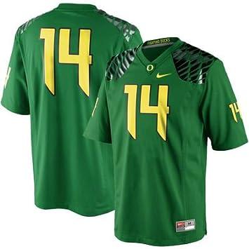 Nike # 14 Oregon Patos Apple Verde réplica de Camiseta de fútbol Jersey (XXXL)