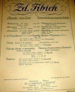 Zd.Fibich. Z Malickosti Gavotta-Rococo-Mignons. Violin & Piano. Julius Rauscher