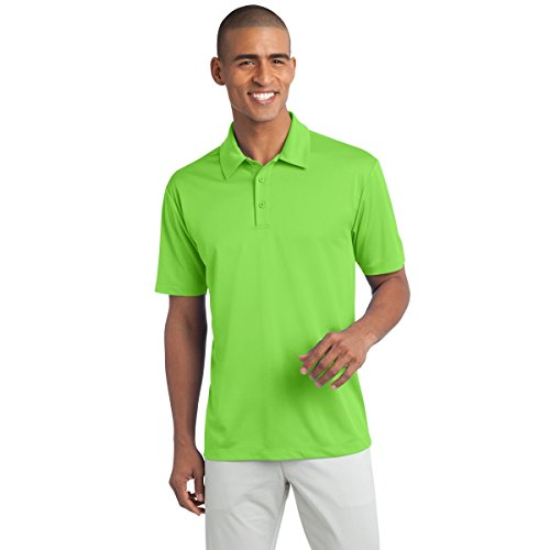 Yorke Roundtree Green - Clothe Co. Mens Big & Tall Short Sleeve Moisture Wicking Silk Touch Polo Shirt, 4XLT, Lime