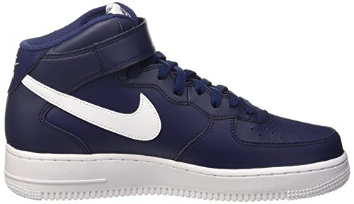 Nike Herren Air Force 1 Mid '07 Basketballschuh Midnight Navy / Weiß-Weiß