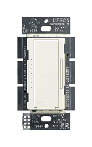 Lutron Maestro C.L Dimmer Switch for Dimmable LED, Halogen and Incandescent Bulbs, Single-Pole or Multi-Location, MACL-153M-BI, (Electric Range Biscuit)