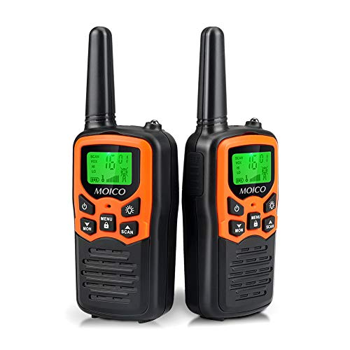 🥇 Walkie Talkies Long Range for Adults Two-Way Radios Up to 5 Miles in Open Fields 22 Channels FRS/GMRS VOX Scan LCD Display with LED Flashlight Ideal for Field Survival Biking Hiking Camping