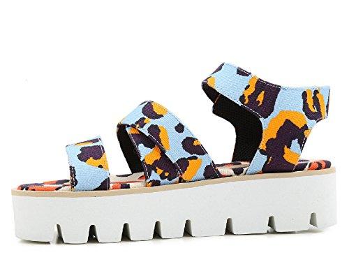 MSGM cuñas sandalias zapatos en tela multicolor - Número de modelo: 2042MDS62 014 Multicolor