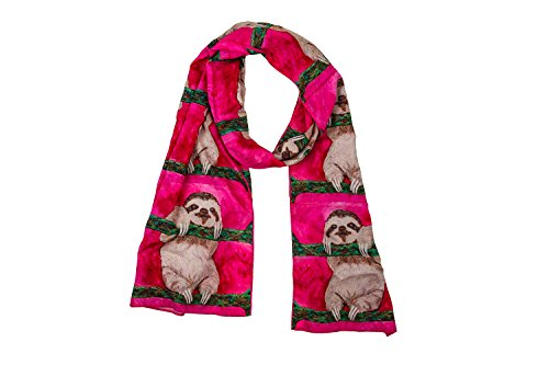 Sloth Viscose Scarf- From My Original Painting, Support Wildlife Conservation, Read How]()