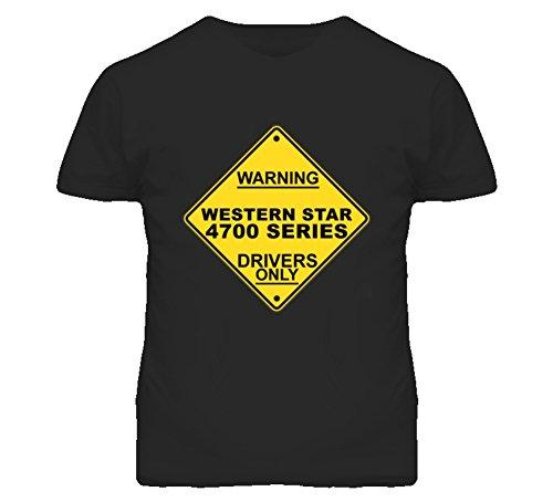 Warning Western Star 4700 Series Drivers Only Trucker T Shirt 2XL Black -