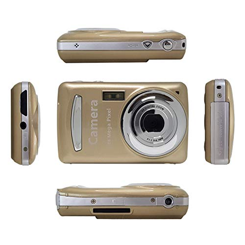 RONSHIN Kids Camera, Mini Children Digital Camera Video Camcorder 720P HD 4 X Zoom Video Camera with 2.4 inch TFT LCD Screen Gold by RONSHIN
