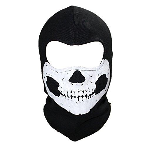 Outdoor Designs Silk Balaclava - ECYC Unisex Ghost Skull Full Face Balaclava Masks Warmly Motorcycles Mask Hood Beanie Halloween Cosplay Mask