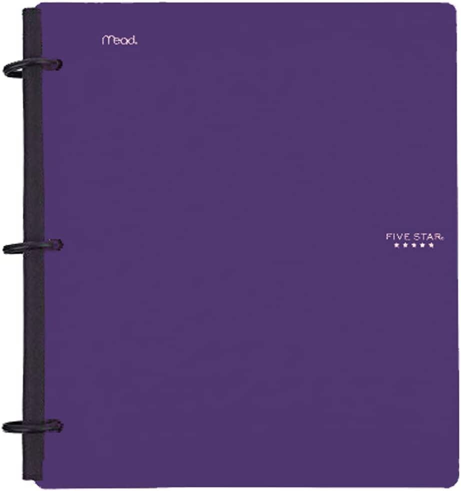 Five Star Flex Hybrid NoteBinder, 1-1/2 Inch Binder, Notebook and Binder All-in-One, Purple (72518)