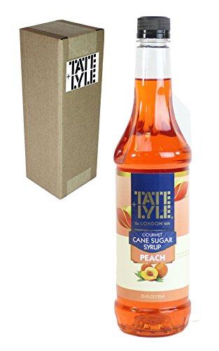Tate+Lyle Fairtrade Pure Cane Sugar Peach Syrup, 750mL (25.4oz) Bottle, Individually Boxed