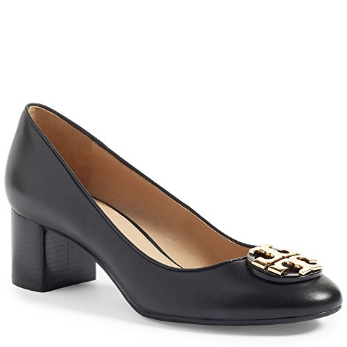 (Tory Burch Women's Janey 50 mm Pump Calf Leather Black (US: 8.5))