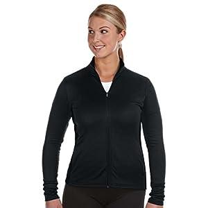 Champion S260 Womens Performance Color-block Full Zip Jacket - Black, Medium