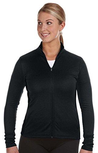 Champion Double Dry Women`s Colorblock Full Zip Jacket, Black, XL -