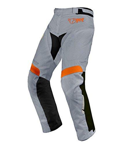 JET Motorradhosen Textilhose Wasserdicht Winddicht Mit Protektoren, Grau,DE 50 Regulär / Weite 34 Länge 32 (Large)