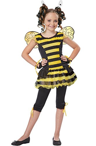 [Mememall Fashion Bumble Bee Insect Buzzin' Around Child Halloween Costume] (Plus Size Deluxe Bumblebee Costumes)
