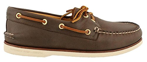 Sperry Top-Sider Men's Gold Cup A/O 2-Eye,Brown Leather,US 10 W