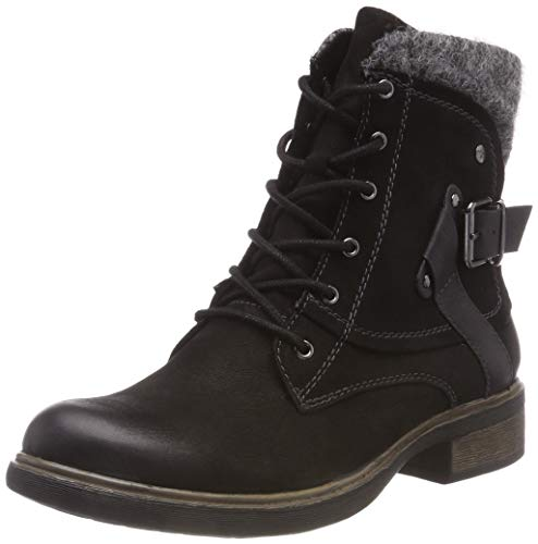 1 Black Combat Tamaris 25101 Boots 21 black Women''s 0TSacPgHaf