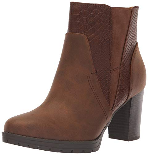 SOUL Naturalizer Women's Nadia Ankle Boot, Brown, 8 W US