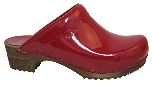 Sanita Womens Classic Open Patent (Red Patent Clog)