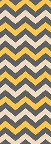 Custom Yellow Chevron Non Slip Hallway