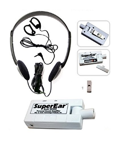 SuperEar Personal Sound Amplifier Model SE5000 (Upgrade of Model SE4000) Increases Ambient Sound Gain 50dB, CMS/ADA Compliant Assistive Listening Device Complete System by SuperEar