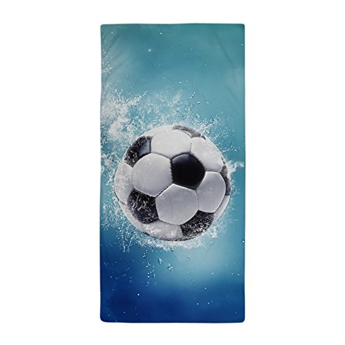 CafePress Soccer Water Splash Large Beach Towel, Soft 30