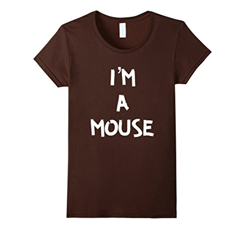 Quick Halloween Costumes Ideas (Womens I'm A Mouse Quick Halloween Costume T Shirt XL Brown)