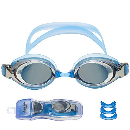 Noble Ocean Sight RX Optical Prescription Swim Goggles with Case, Interchangeable Lens for Unequal Eye Power