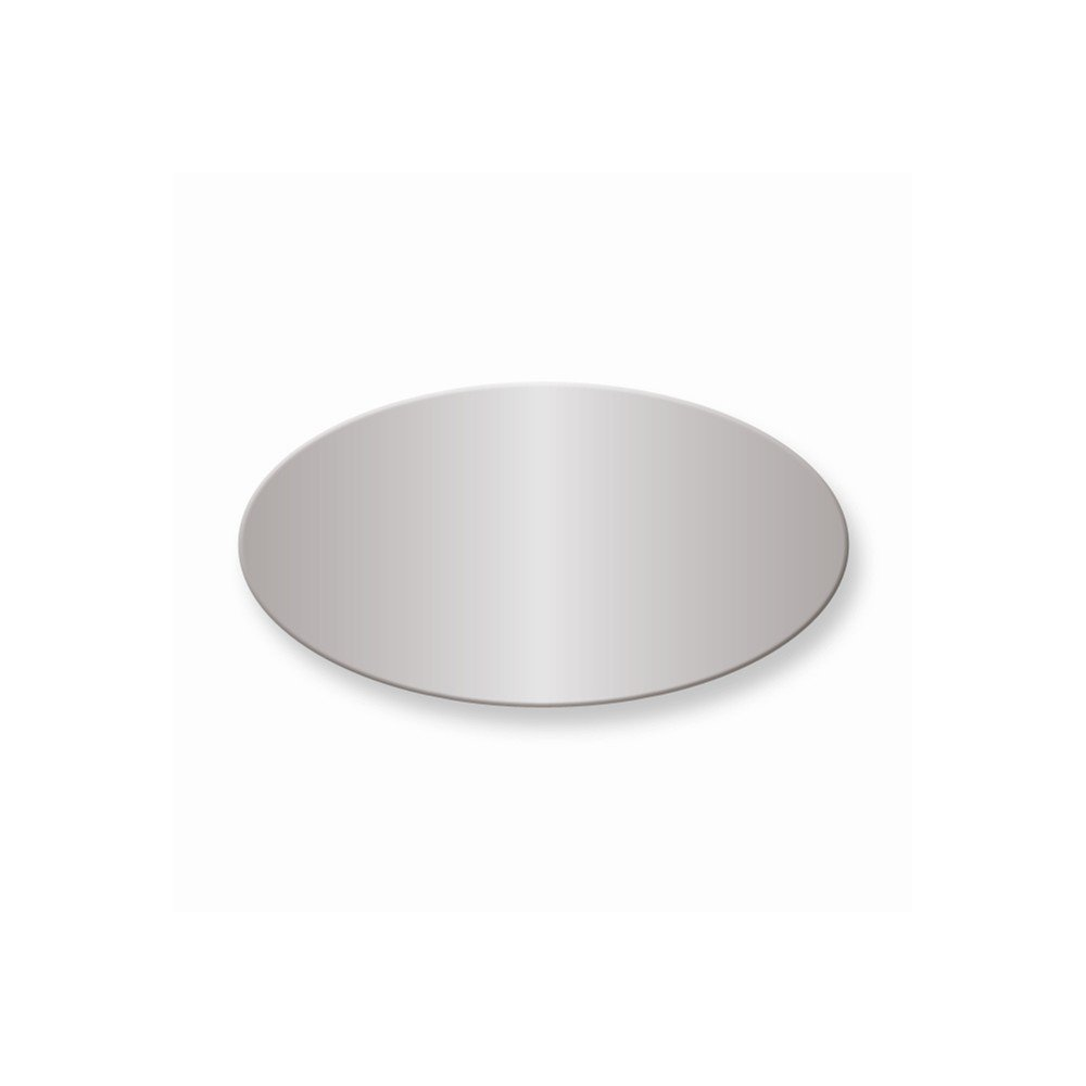 1 x 1 7/8 Oval Polished Alum Plates-Sets of 6