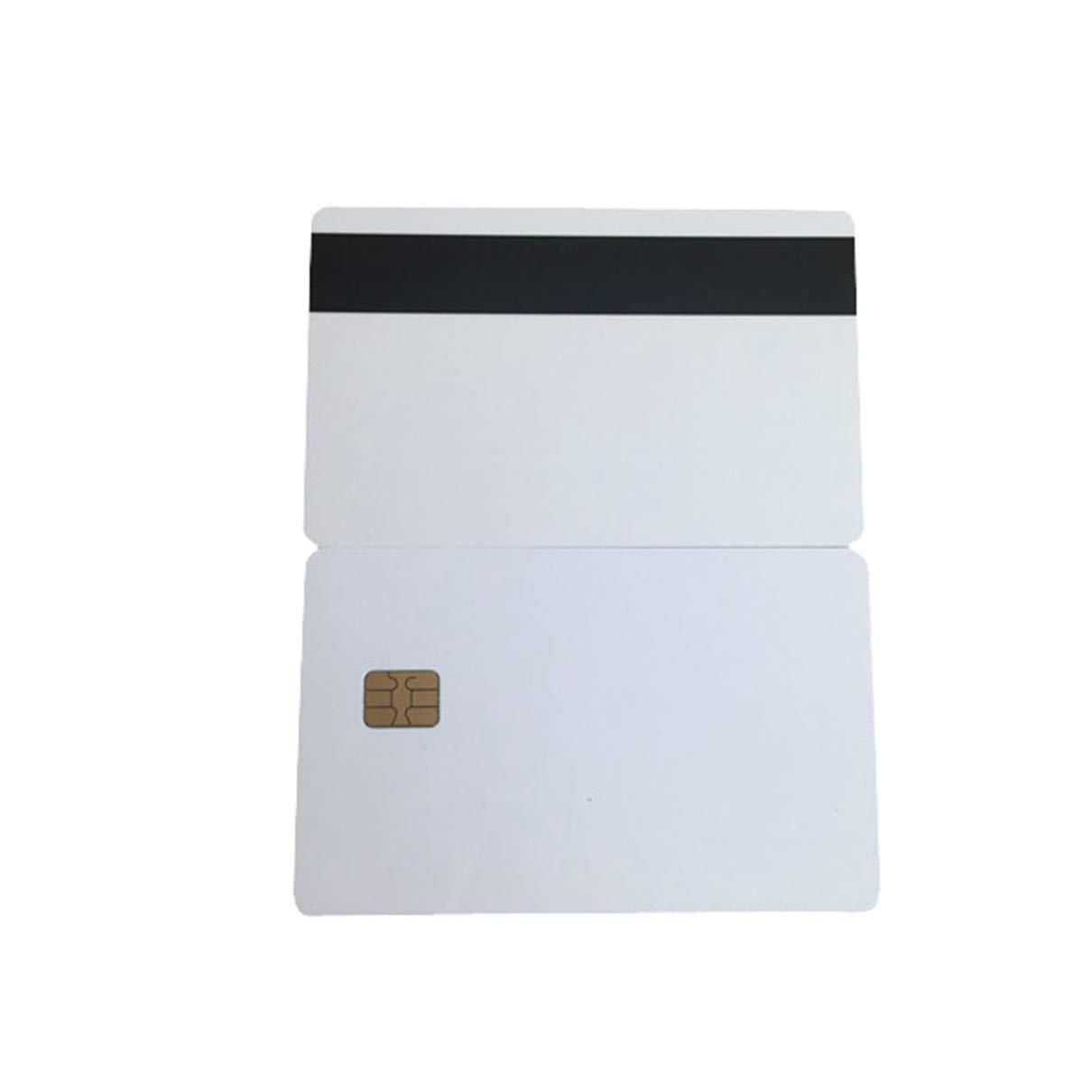 YARONGTECH 10pcs en PVC Blanc sle4442 Contact puce Smart avec carte HICO magn/étique /à rayures