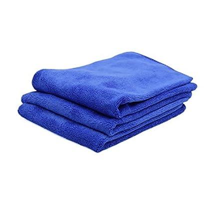 eDealMax 3pcs 40 x 40 cm de limpieza de microfibra de coches 400gsm secar las toallas