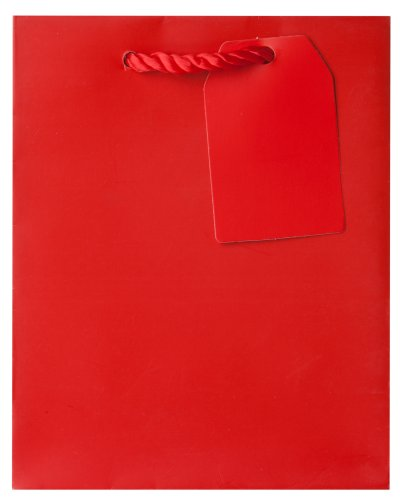 Jillson Roberts Bulk Small Gift Bags Available in 14 Colors, Red Matte, 120-Count (BST909)