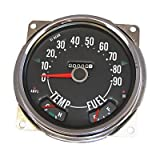 17206.04 Speedometer Assembly, 0-90 MPH, Includes Speedometer Assembled With Fuel and Tempature Gaues, Jeep CJ5 1955-1979, CJ6 1955-1971, CJ7 1976-1979