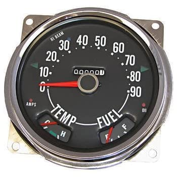amazon com 17206 04 speedometer assembly, 0 90 mph, includes  17206 04 speedometer assembly, 0 90 mph, includes speedometer assembled with fuel and tempature