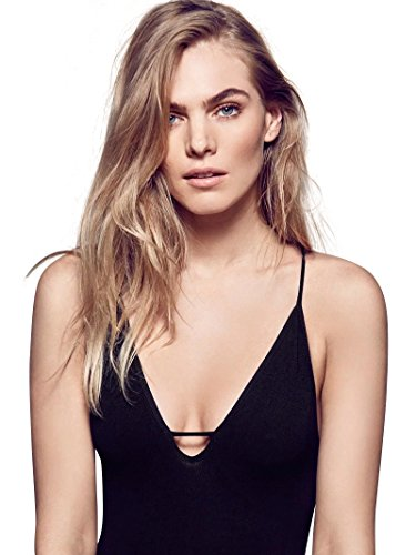 ABADAY Black Womens Sexy Stretch Slip Bodysuit Clubwear