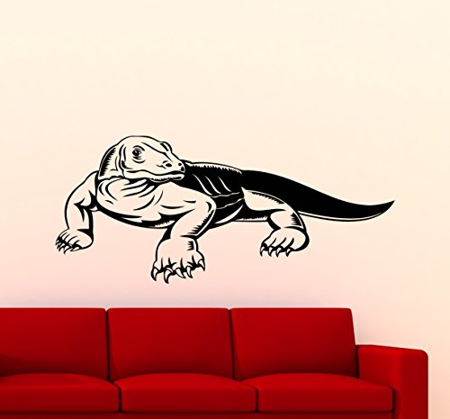 Komodo Dragon Wall Decal Reptile Komodo Monitor Lizard Varan Varanus Vinyl Sticker Home Living Room Design Interior Art Decoration Any Room Mural Waterproof Vinyl Sticker (Komodo Monitors)