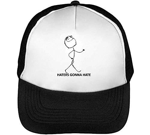 Hater Gonna Hate Meme Gorras Hombre Snapback Beisbol Negro Blanco