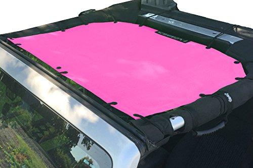 Alien Sunshade Jeep Sunshade Mesh Top Jeep Wrangler 2-Door JK 4-Door JKU 2007-2018 - 10 Year Warranty Front Jeep Top Pink