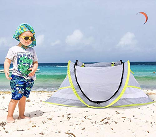 Wayfinder TravelTot, Baby Travel Tent Portable Baby Travel Bed Indoor Outdoor Travel Crib Baby Beach Tent UPF 50 UV Protection w Mosquito Net and 2 Pegs
