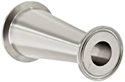 Dixon B3114MP-G200100 Stainless Steel 304 Sanitary Fitting, Clamp Concentric Red Fiberglassucer, 2\