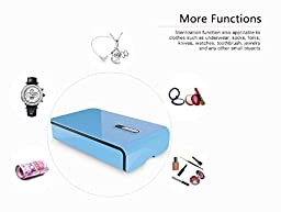 Bluelasers Portable UV Light Cell Phone Sterilizer Smartphone Sanitizer and Phone Charger with Aromatherapy Function,Cell Phone Cleaner for Iphone, Watch and Jewelry(Blue)