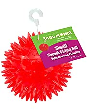 """Gnawsome Squeak and Light Ball for Dogs, Small 2.5"""", Colors will vary"""