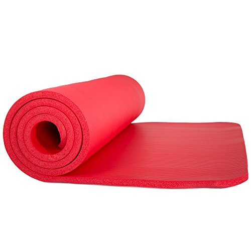 Sleeping Mats Bag - Sleeping Pad, Lightweight Non Slip Foam Mat with Carry Strap by Wakeman Outdoors (Thick Mattress for Camping, Hiking, Yoga and Backpacking) (Red)