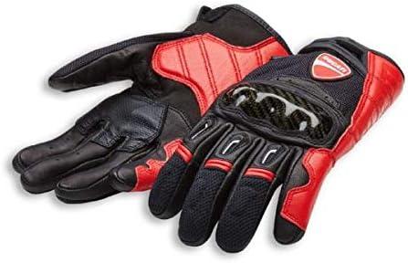 Originale Ducati Company C1 Guanti Guanti da Moto Alpinestars pelle Rosso