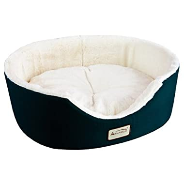 Armarkat Pet Bed 22-Inch by 19-Inch Oval, Laurel Green